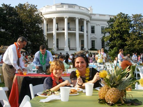Dinner on the White House Lawn