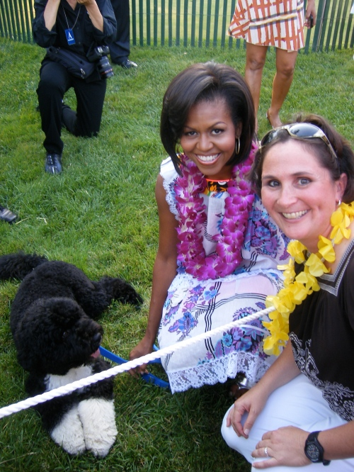 Jill with First Lady and First Dog