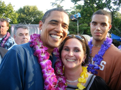 Jill with the Prez